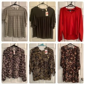 NEW lot of 6 H&M tops